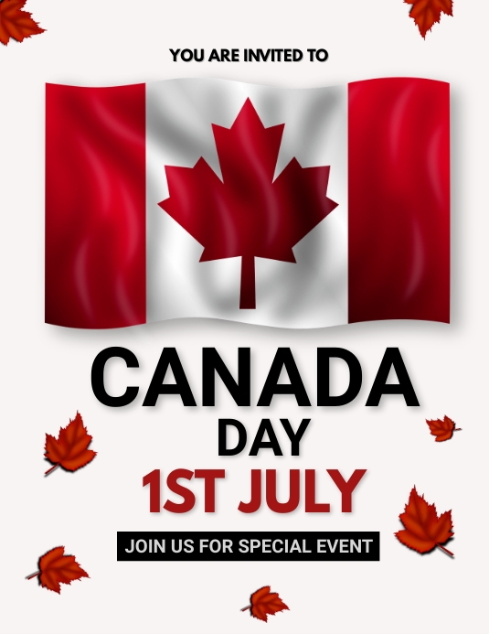 Canada day, event,Independence day 传单(美国信函) template
