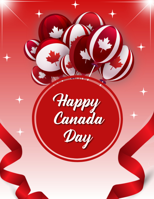 Canada day, event,Independence day Folheto (US Letter) template