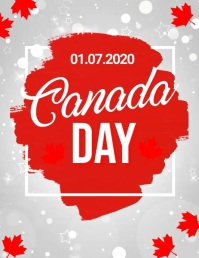 Canada day, happy canada day Flyer (US Letter) template