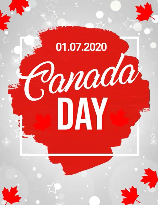 Canada day, happy canada day ใบปลิว (US Letter) template