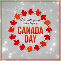 Canada Day, Happy Canada Day Message Instagram template