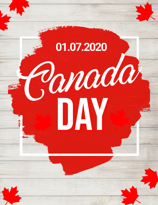 Canada day, happy canada day 传单(美国信函) template