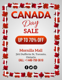 Canada Day, Sale Flyer (US-Letter) template