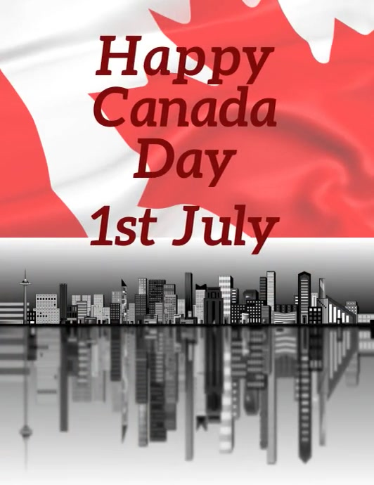 Canada day celebration Flyer (US-Letter) template
