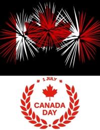 Canada day celebration Volantino (US Letter) template