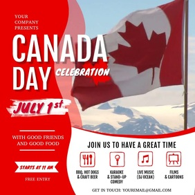Canada Day Celebration Event Square Video template