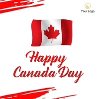 canada day celebration post template