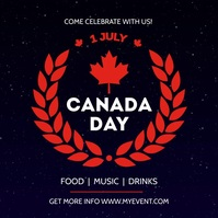 canada day celebration template free Vierkant (1:1)