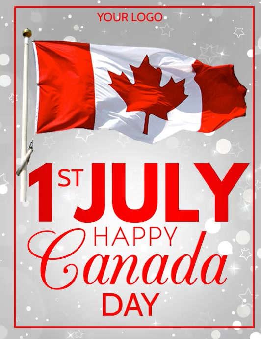 Canada day Flyer (format US Letter) template