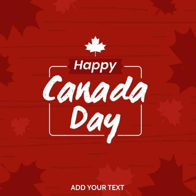 Canada day 方形(1:1) template