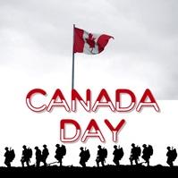 Canada Day Publicação no Instagram template