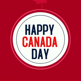 Canada day template