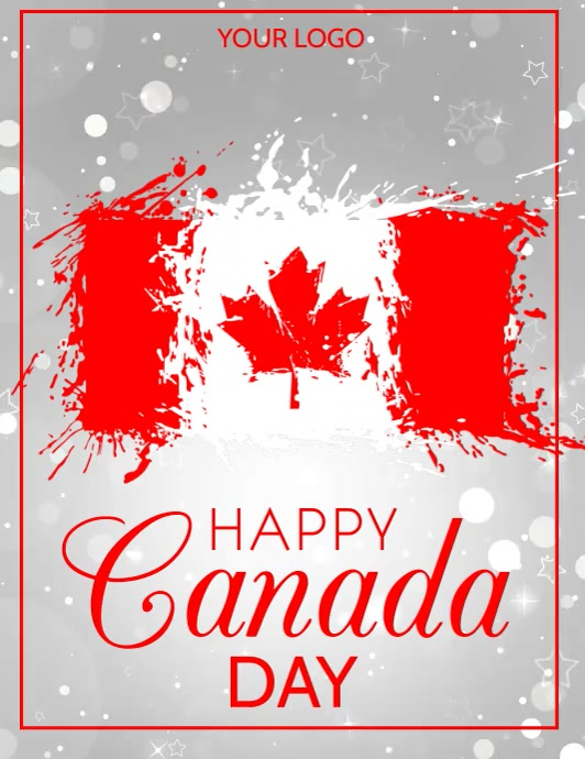 Canada day,1st july Pamflet (Letter AS) template