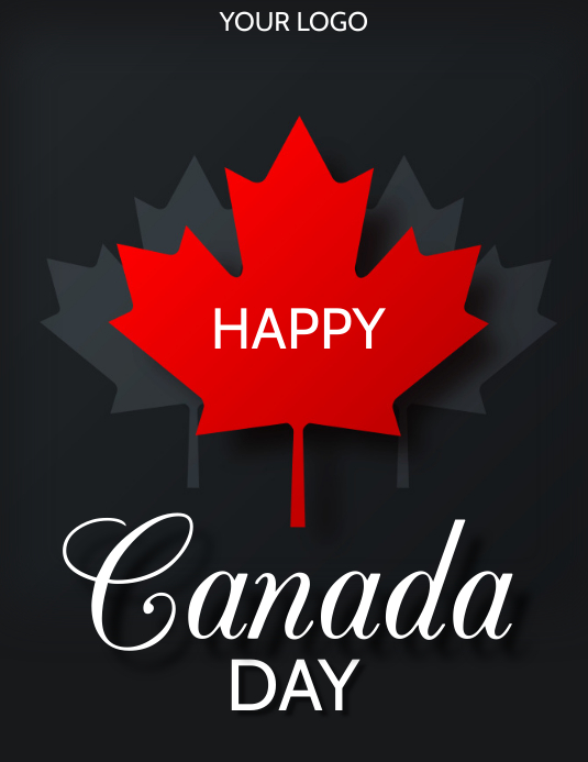 Canada day Folheto (US Letter) template