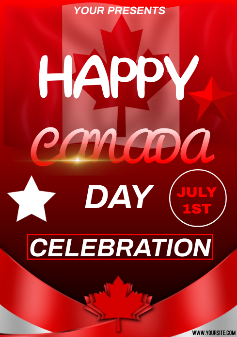 CANADA DAY A4 template