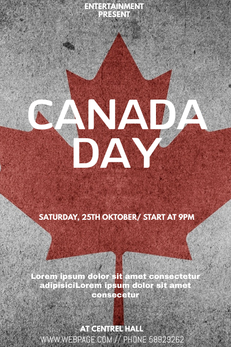 Canada day event flyer template Poster