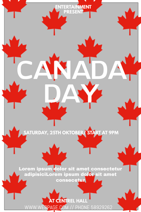 Canada day event flyer template Cartaz