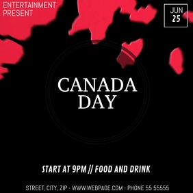 Canada day event video flyer template
