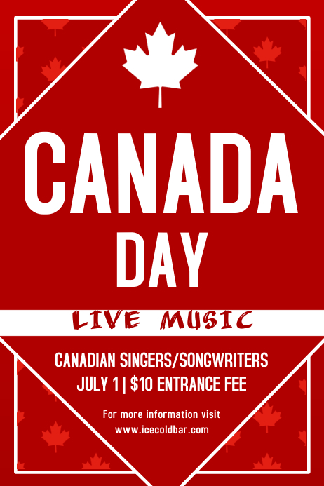 Canada Day Flyer Template Poster