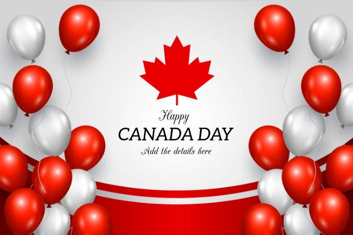 Canada day flyers,Independence day of canada Плакат template