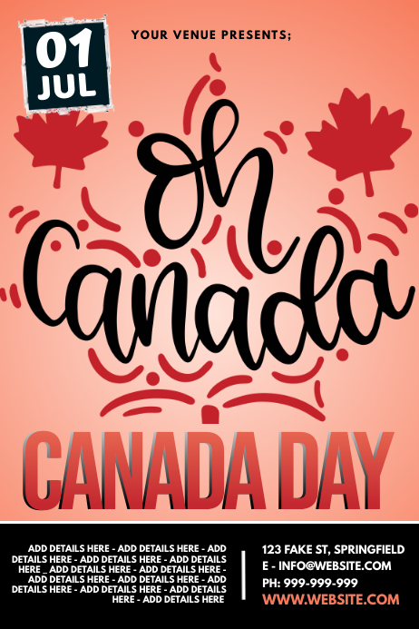 Canada Day Poster Cartaz template