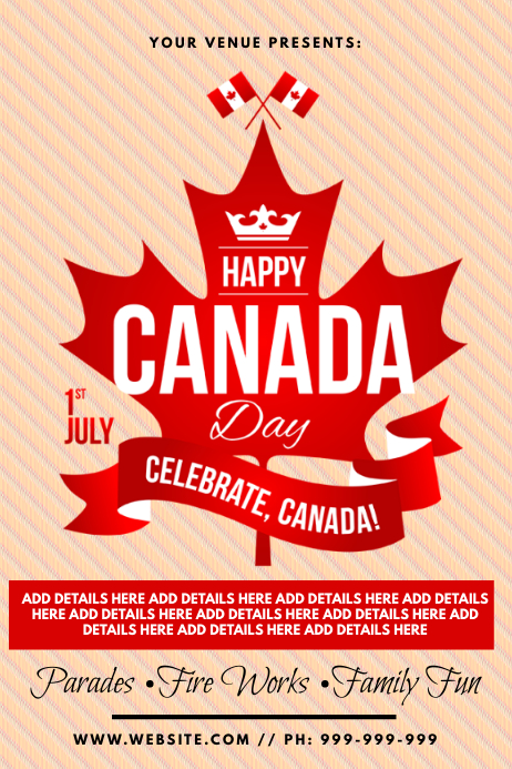 Canada Day Poster template
