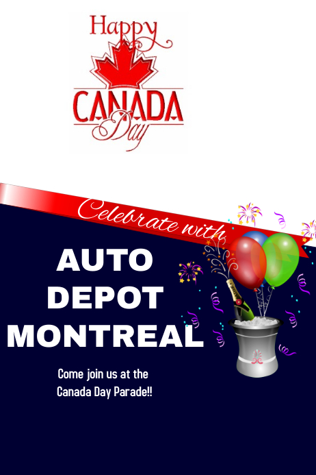 Canada Day Cartaz template