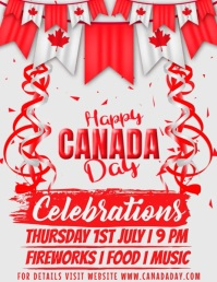 Canada Day Template Pamflet (Letter AS)