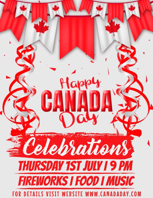 Canada Day Template Flyer (US-Letter)