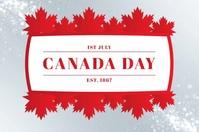 Canada Day Template แบนเนอร์ 4' × 6'