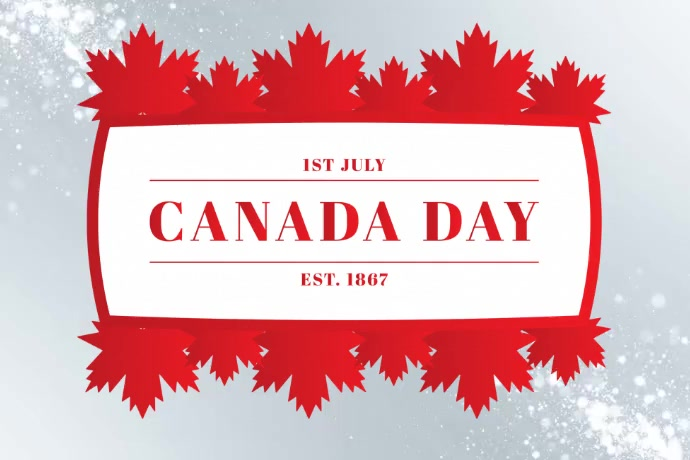 Canada Day Template Banner 4 × 6 Fuß