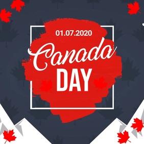 Canada day video, happy canada day Square (1:1) template
