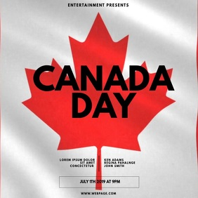 Canada Day Video Ad Template Square (1:1)
