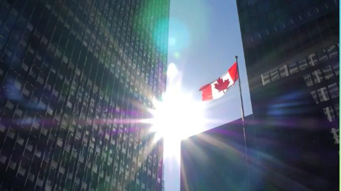 Canada Flag Foto Sampul Saluran YouTube template