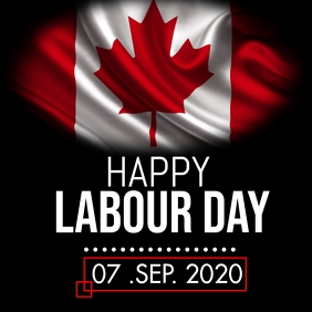 Canada labour day Instagram Post template