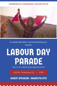 Canada Labour Day Parade Invitation Video Poster template