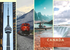 Canada postcard template