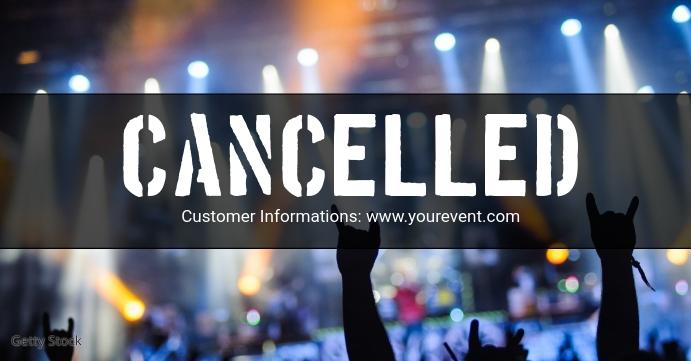 Cancelled Banner Header Information Customer Facebook-gebeurtenisomslag template