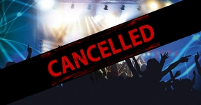 Cancelled Banner Header Information Customer Okładka wydarzenia na Facebooku template