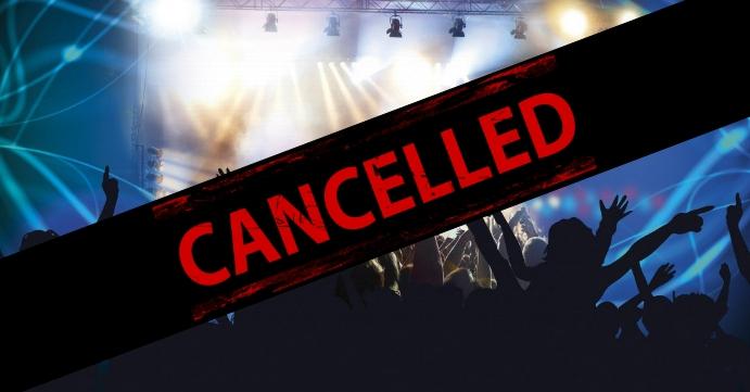 Cancelled Banner Header Information Customer Sampul Acara Facebook template