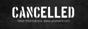 Cancelled Banner Header Information Customer แบนเนอร์ 2' × 6' template