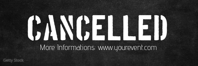 Cancelled Banner Header Information Customer Spanduk 2' × 6' template