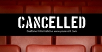 cancelled Banner Header Information Customer Facebook begivenhed cover template