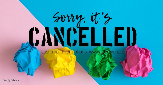 Cancelled Banner Header Information Customer Facebook-gebeurtenisomslag template