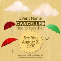 Cancelled Due to Rain Instagram Instagram-Beitrag template