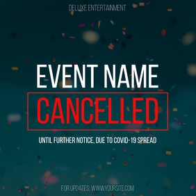 Cancelled Event Coronavirus Instagram Post 2 template