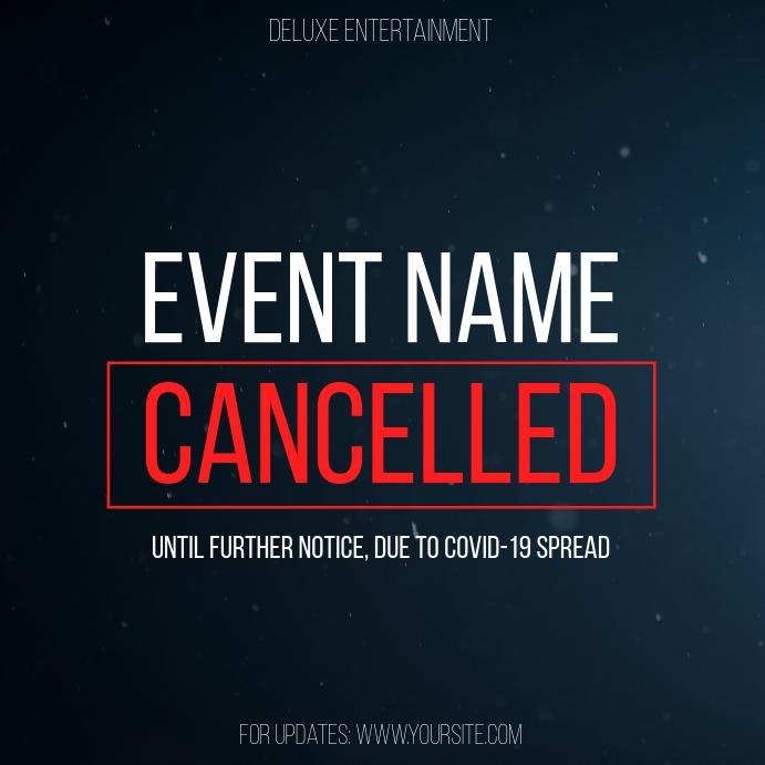 Cancelled Event Coronavirus Instagram Post template