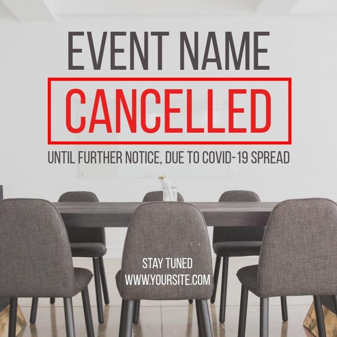 Cancelled Event Coronavirus Social Post โพสต์บน Instagram template