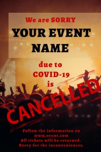 Cancelled event Poster template