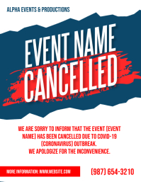 Cancelled Event Notice poster flyer template